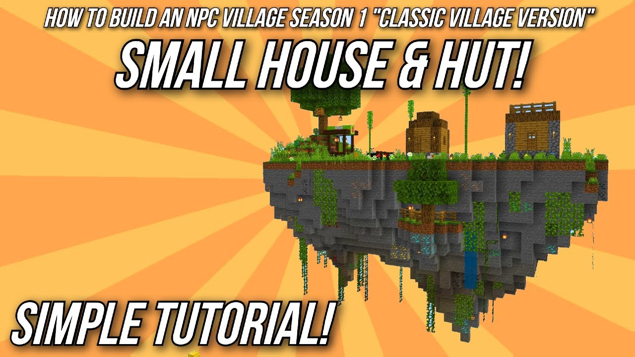 Minecraft tutorial how to build an npc village wood hut and small house youtube - How to make a small house ...