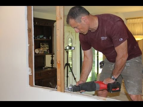 Cutting An Opening In A Non Load Bearing Wall Youtube