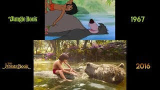 This side-by-side, shot-for-shot comparison of the two most prominent disney adaptations mowgli stories by rudyard kipling is intended to illustration...