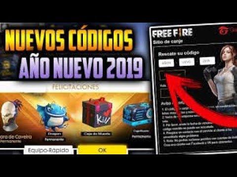 codigos para canjear en free fire 2019
