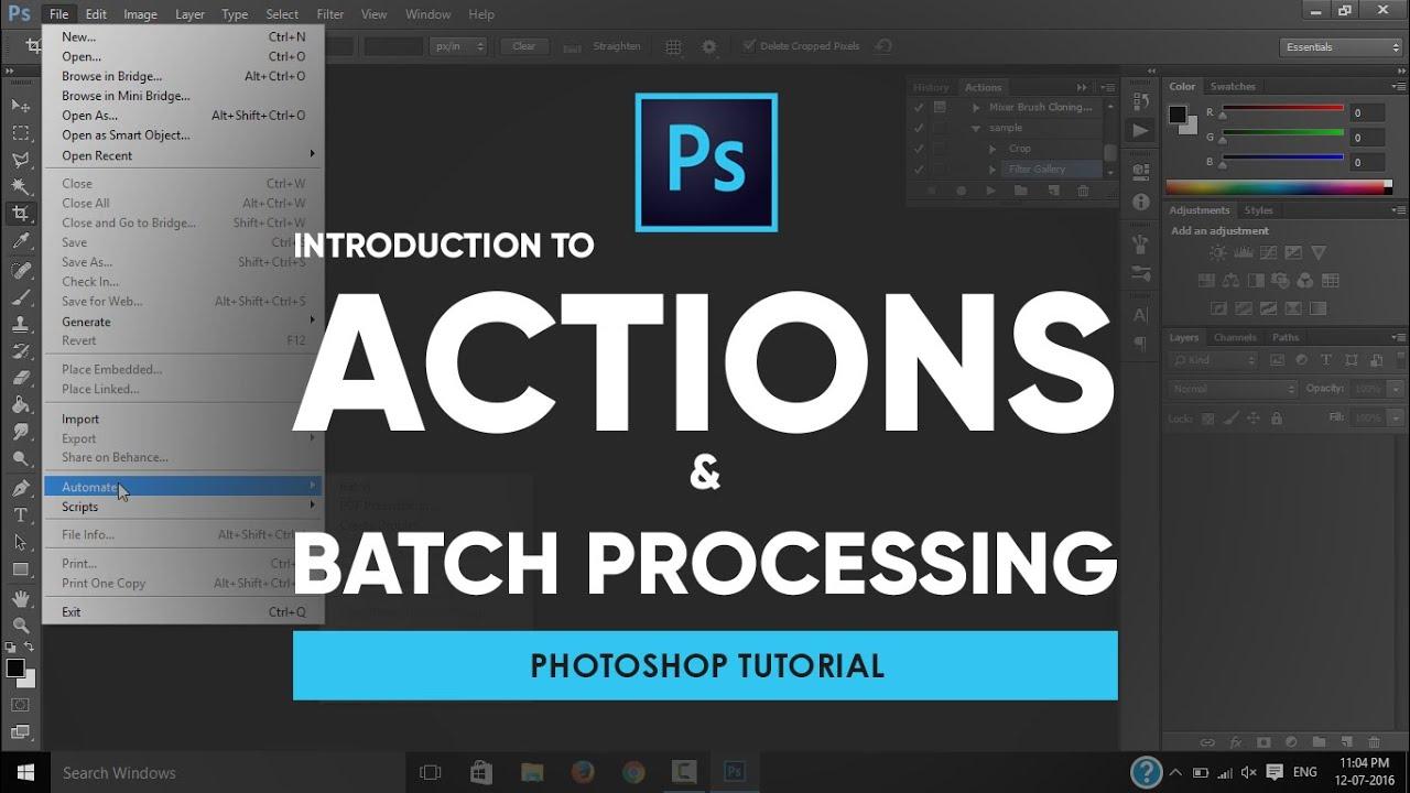 Photoshop tutorial: using batch process in photoshop cs6 youtube.