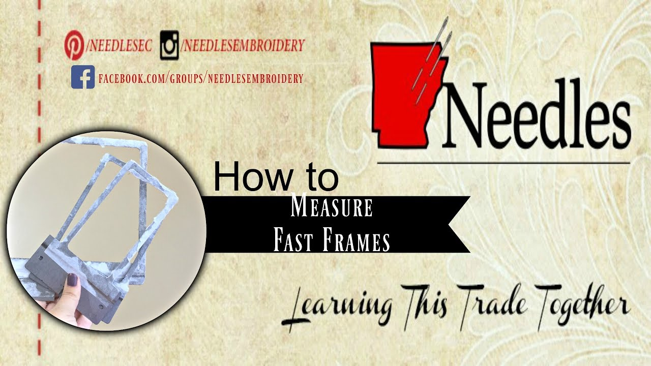 Measure your Fast Frames | Needles Embroidery | Fast Frame Series ...