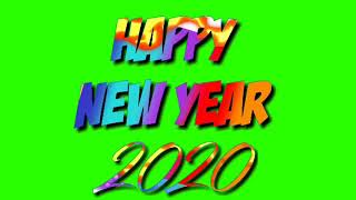 Happy New year 2020 3D Graphics Green Screen Effects Happy New year 2020 Green Screen