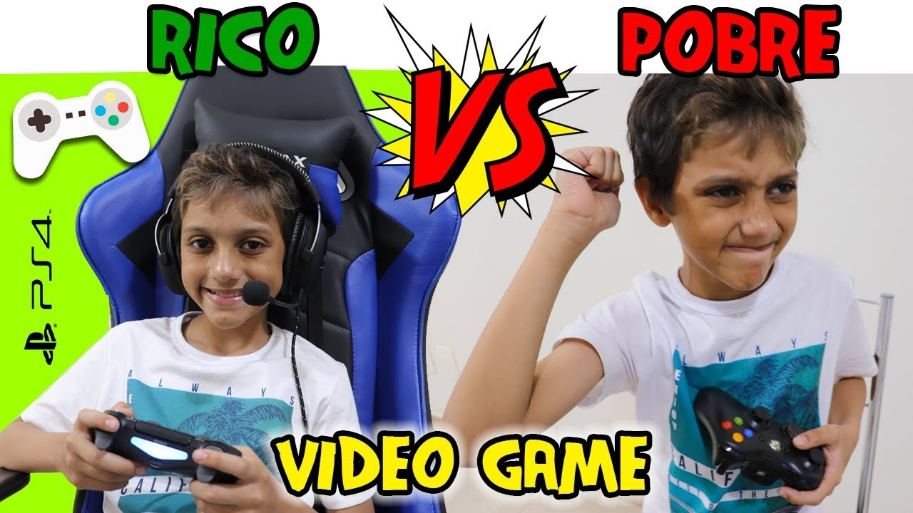 RICO VS POBRE JOGANDO VÍDEO GAME - Gustavo TV