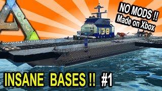 ARK INSANE BASES SHOWCASE PART 1 !! Ark Survival Evolved Base Build Showcase
