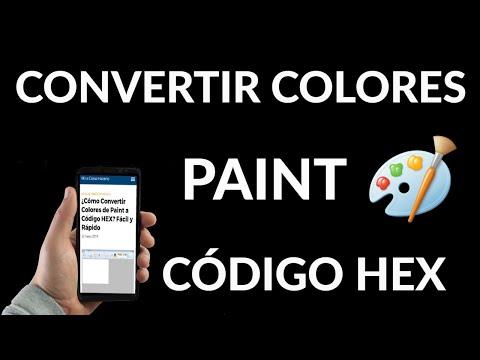Cómo Convertir Colores de Paint a Hexadecimal