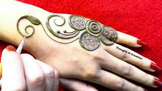 Big Flower Simple Stylish Mehndi Design for Backhands  Thought of Creation
