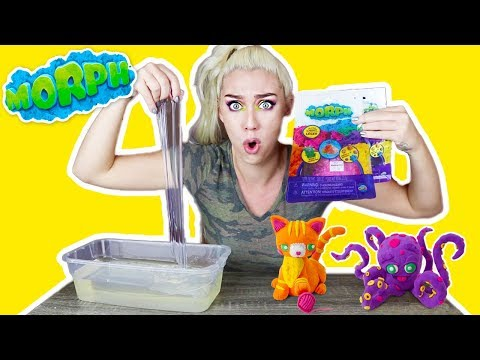 MIXING MORPH INTO CLEAR SLIME! WEIRD EXPERIMENT! WHAT WILL HAPPEN?