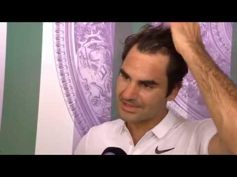 Roger Federer d. Marin Cilic post-match INTERVIEW - Wimbledon 2016