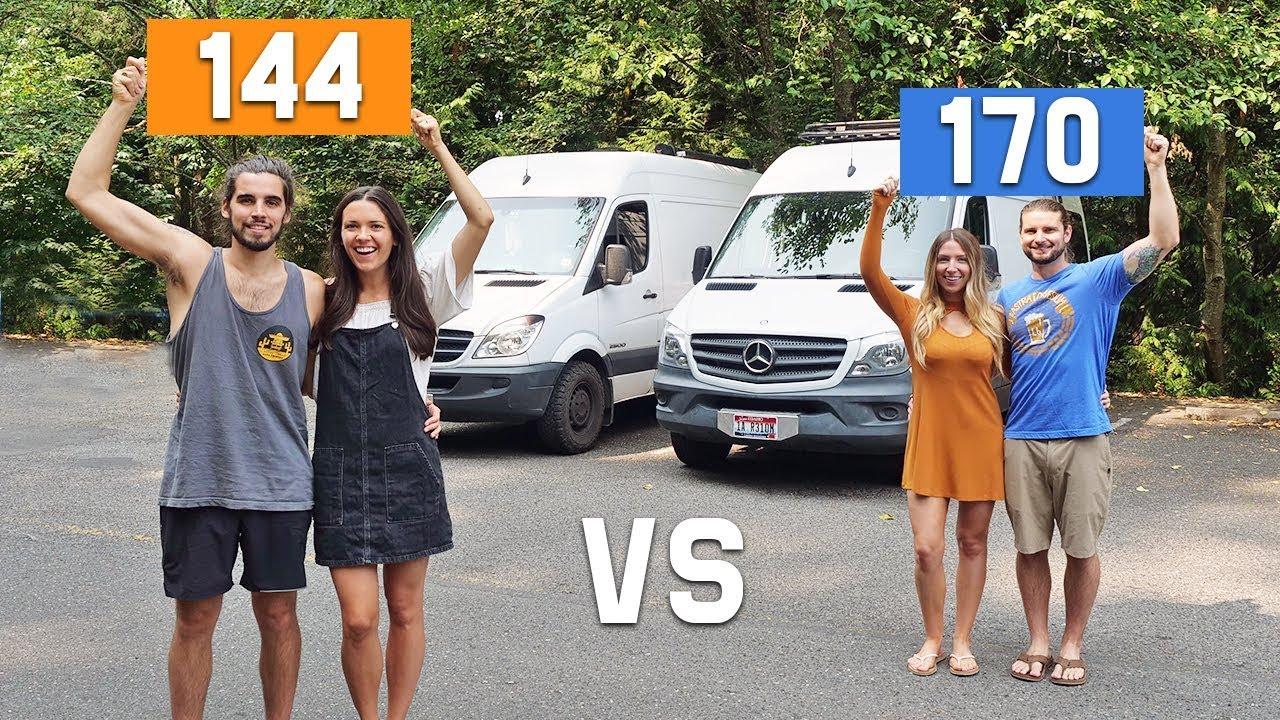 Sprinter Van Conversion // 144 vs 170