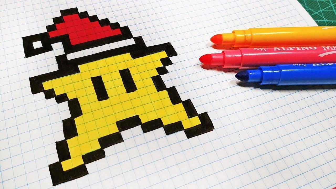 Christmas Pixel Art How To Draw Santa Claus Star Pixelart