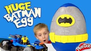 Batman Kinder Play-Doh Surprise Egg with DC Superhero Batman Toys Unboxing by KID CITY