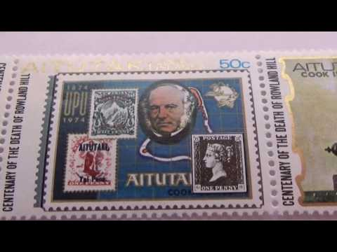 Some Aitutaki Cook Islands Postage Stamps