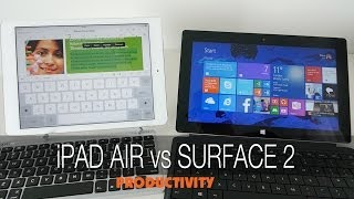 Apple iPad Air vs Microsoft Surface 2 - Productivity