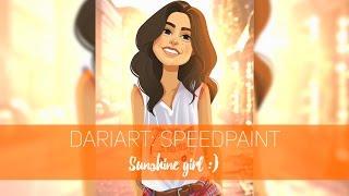 DARIART: speedpaint - Рисую  Sunshine Girl:)