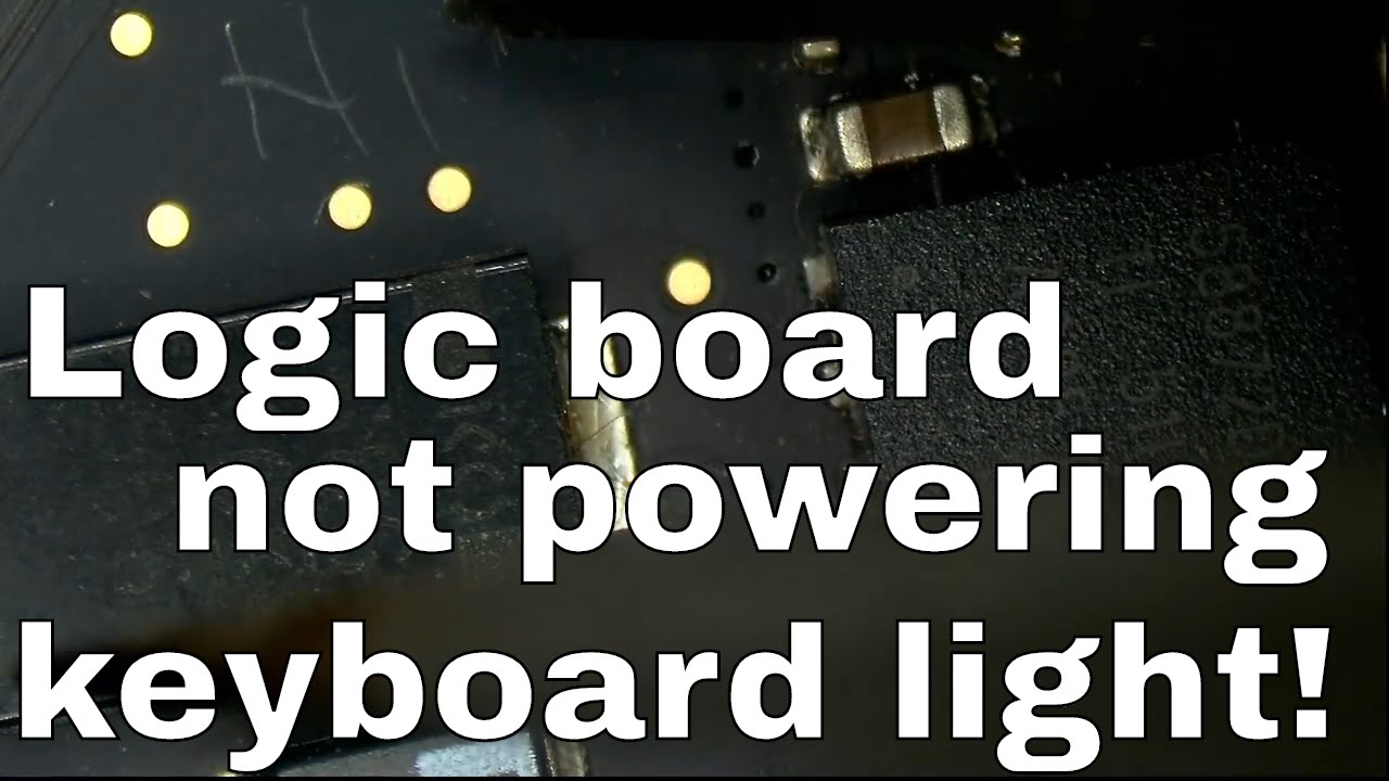no keyboard backlight logic board repair macbook pro retina