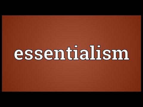Header of essentialism
