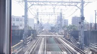 近鉄5800系電車 阪神尼崎駅から西九条駅まで前面車窓ノーカット