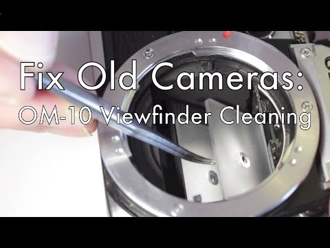 Fix Old Cameras: OM-10 Viewfinder Cleaning