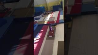 Спортивная гимнастика.Астафьева Ольга.Прыжок