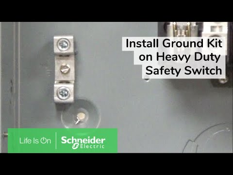 Installing PKOGTA2 Equipment Ground Kit On Heavy Duty Safety Switches | Schneider Electric Support