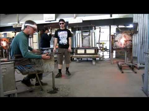 A Glassblowing Class Demo - Genie Bottle with attached handles