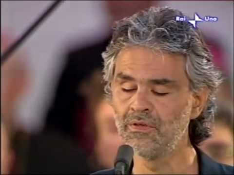 La veglia di Loreto 07 - Bocelli intona Fratello Sole Sorella Luna