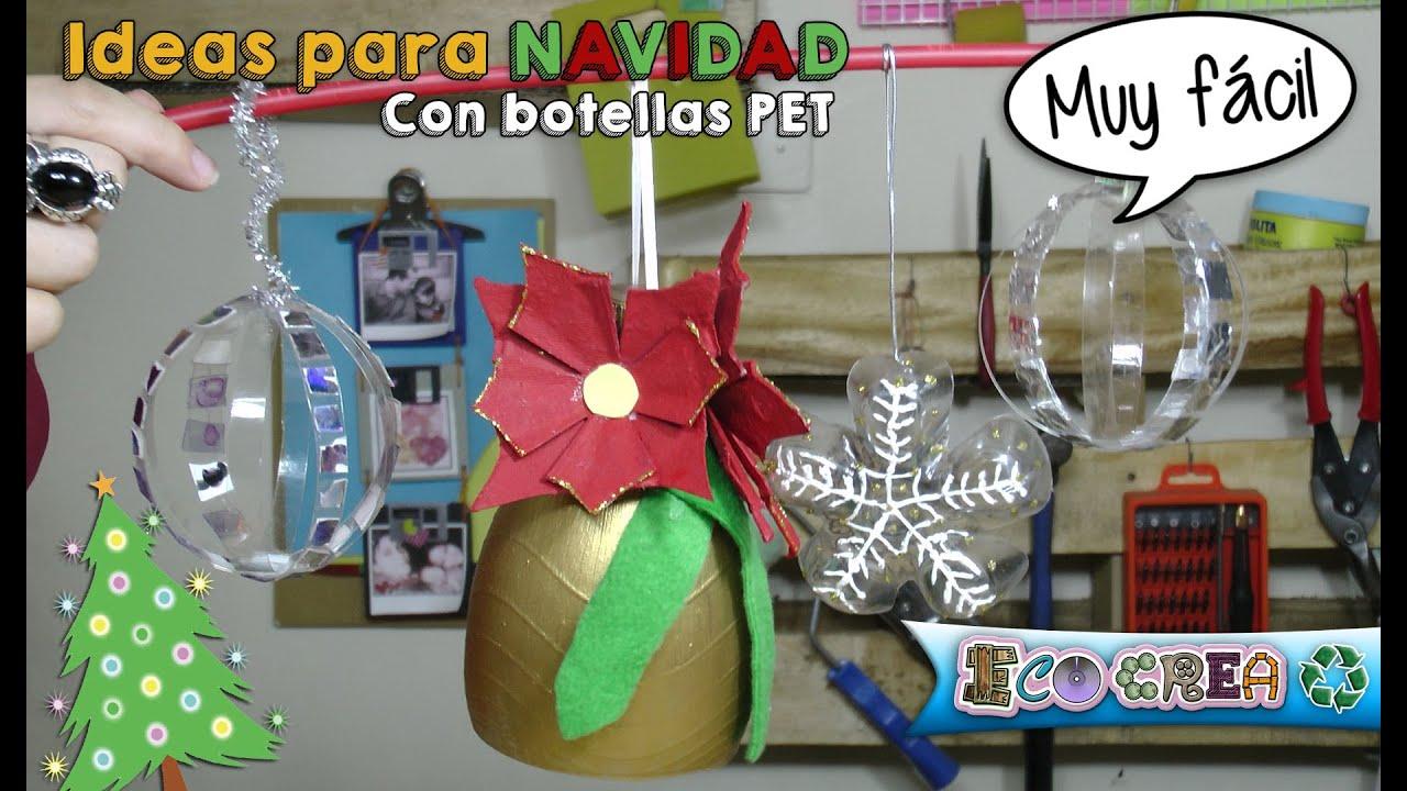 Adornos de navidad con botellas pl sticas youtube for Adornos navidenos hechos con botellas plasticas