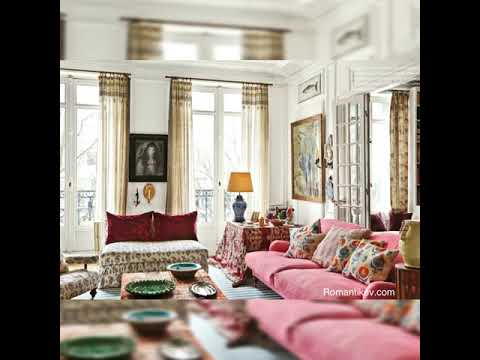 Carolina Irving 's Romantic & Chic Bohemian Apartment-florals-chintz-Textiles etc.