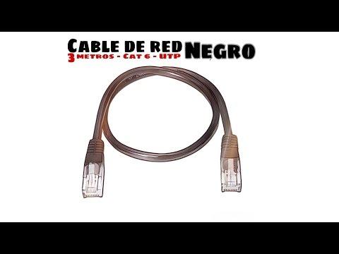 Video de Cable de red UTP CAT6 3 M Negro