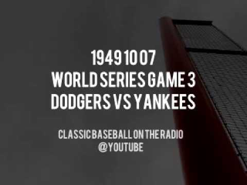 1949 10 07 World Series Game 3 Dodgers at Yankees Classic Radio Broadcast