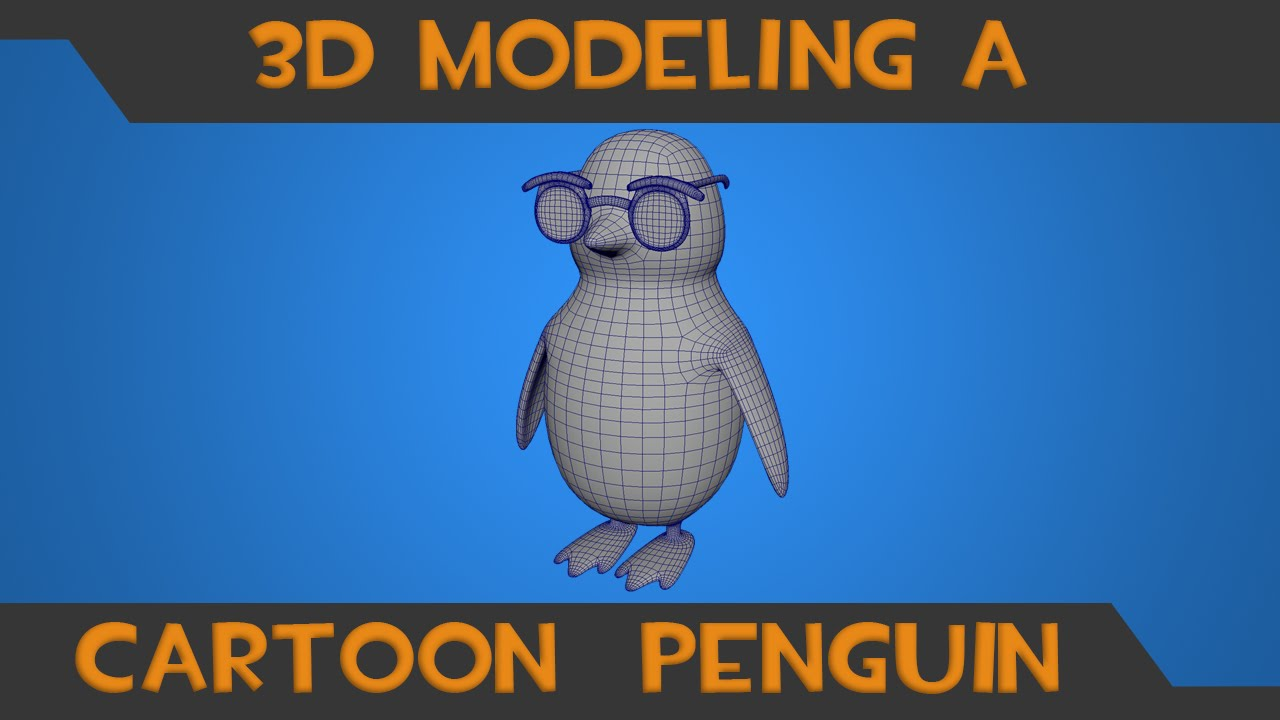 Simple 3d character creation model a penguin in maya Simple 3d modeling online