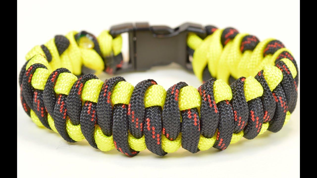 Paracord Survival Bracelet The Woven Weave Design