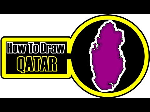 How To Draw Qatar Map - How to draw A Map Of Qatar