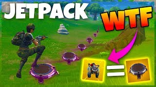 *INSANE* ACROSS MAP WITH JUMP PADS & JETPACK CHALLENGE! ( FORTNITE )