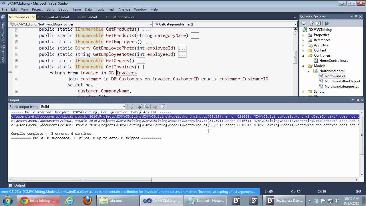 Asp net mvc gridview edit the gridview using inline for Grid view templates in asp net