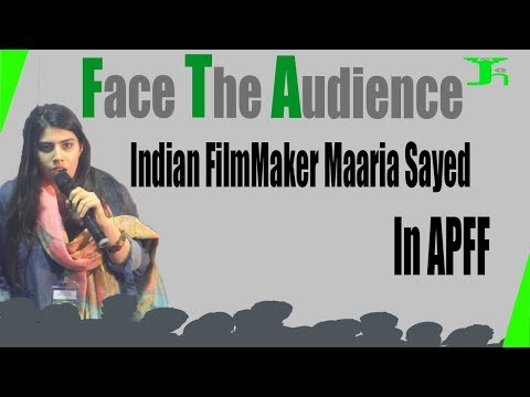 Indian Film Maker Maaria Sayed in Asia Peace Film Festival Karachi Edition