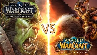 CLASSIC WoW vs BATTLE FOR AZEROTH - A One Hour Experiment in Both Games!