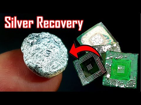 Silver Recovery From IC Bga Chips