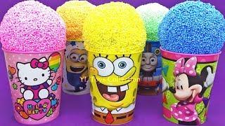 Play Foam Ice Cream Cups Surprise Hello Kitty Spongebob Minions Thomas and Friends Kinder Eggs thumbnail