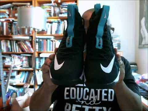 856f3472bdc Nike LeBron XV KS2B LeBron Watch Air Griffey Black White-Rio Teal ...