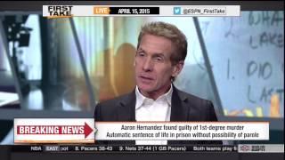 Stephen A. & Skip talk about Aaron Hernandez guilty verdict