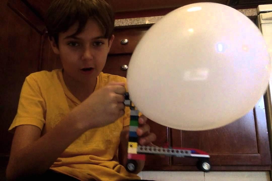 Balloon Powered Lego Car. - YouTube
