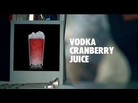 VODKA CRANBERRY JUICE DRINK RECIPE - HOW TO MIX