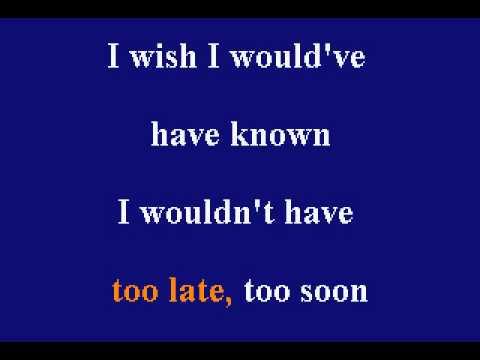 Jon Secada - Too Late, Too Soon - Karaoke