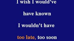Jon Secada - Too Late, Too Soon - Karaoke