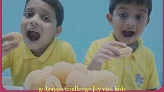 Golgappa eating challenge |pani puri challenge|| by rizz kids