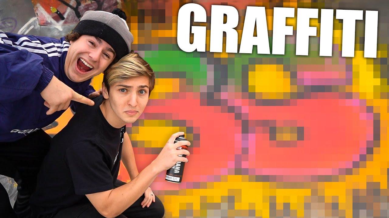 Download MEU 1º GRAFFITI! - PRO vs NOOB🔥