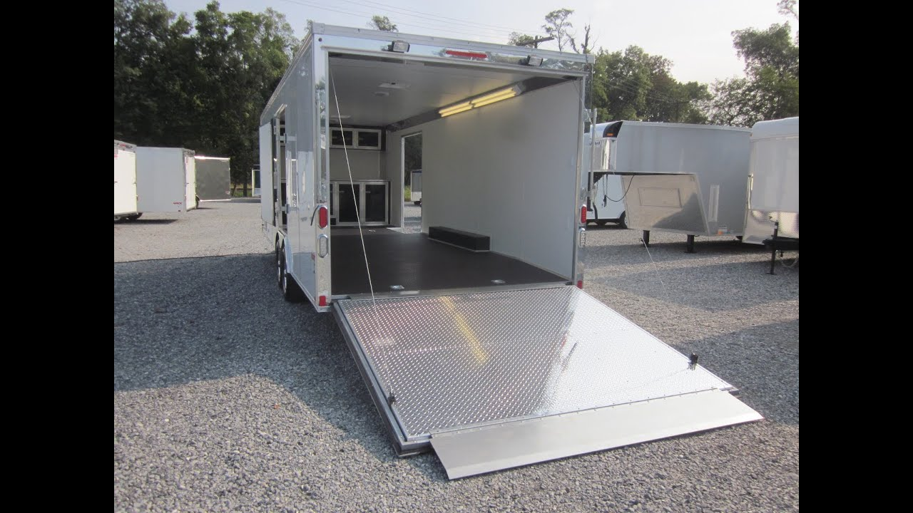 24\' United UXT Finish Line Race Car Trailer For Sale - YouTube