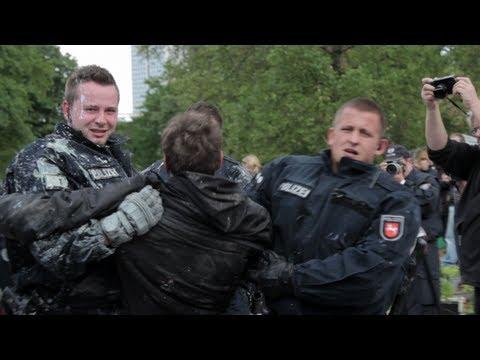 Polizei räumt Camp: Occupy Frankfurt (16.05.2012)